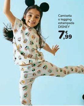 Oferta de Camiseta o legging estampada DISNEY por 7,99€