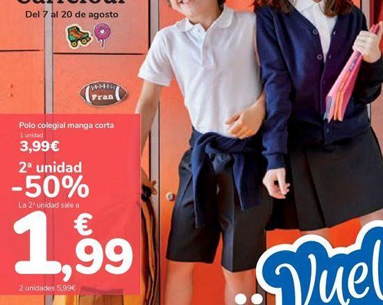 Oferta de Polo colegial manga corta por 3,99€