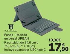 Oferta de Funda + teclado universal URBAN  por 17,9€