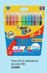 Oferta de Pack 10+2 rotuladores de color BIC  por 1,99€