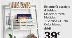 Oferta de Estantería escalera 4 baldas por 39€