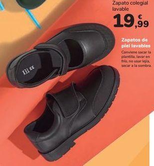 Oferta de Zapato colegial lavable por 19,99€