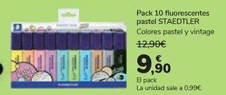 Oferta de Pack 10 fluorescentes pastel STAEDTLER  por 9,9€