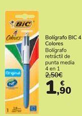 Oferta de Bolígrafo BIC 4 Colores  por 1,9€