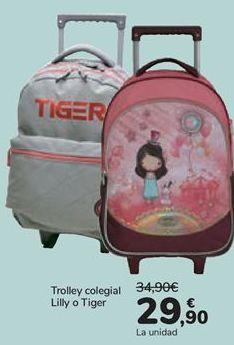 Oferta de Trolley colegial Lilly o Tiger  por 29,9€