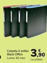 Oferta de Carpeta 4 anillas Black Office  por 3,9€