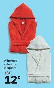 Oferta de Albornoz velour o jacquard por 12€