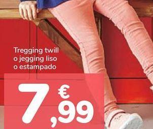 Oferta de Tregging twill o jegging liso o estampado por 7,99€