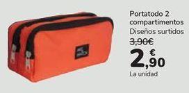 Oferta de Portatodo 2 compatimentos  por 2,9€