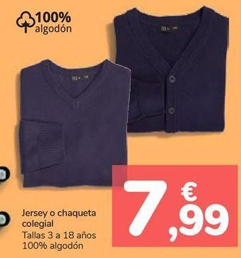 Oferta de Jersey o chaqueta colegial  por 7,99€