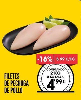 Oferta de Pechuga de pollo por 4,99€