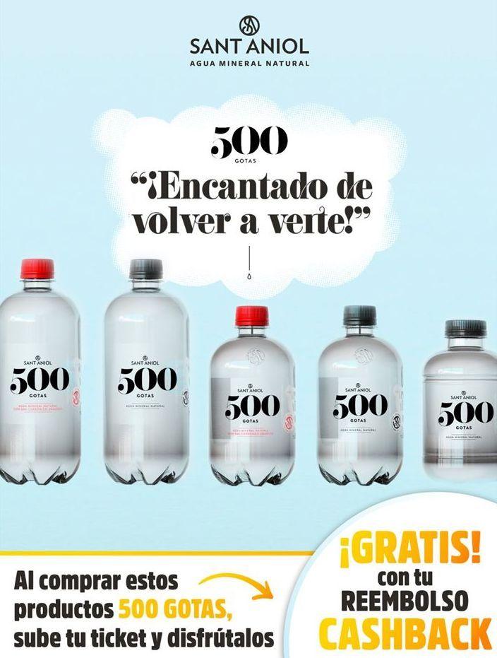 Oferta de Agua 500 Gotas por