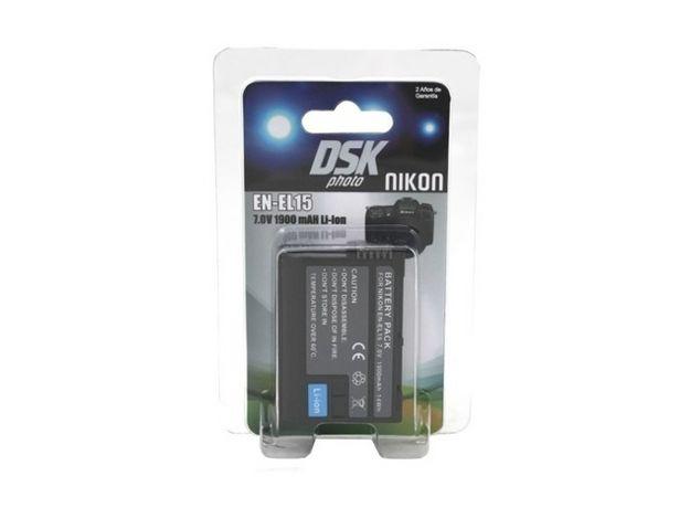 Oferta de Batería Foto DSK NIKON ENEL 15 1900 mAh por 27,59€