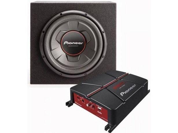 Oferta de Pack PIONEER Subwoofer + Amplificador GXT-3706B-Set (Caja Abierta) por 188,97€