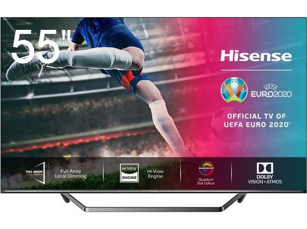 Oferta de TV HISENSE 55U7QF (ULED Quantum Dot - 55'' - 140 cm - 4K Ultra HD - Smart TV) por 582,99€