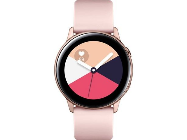 Oferta de Smartwatch SAMSUNG Galaxy Watch Active rosa dorado por 159€