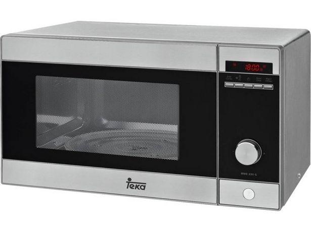 Oferta de Microondas TEKA MWE 230 G (Caja Abierta - 23 L - Con Grill - Inox) por 98,97€