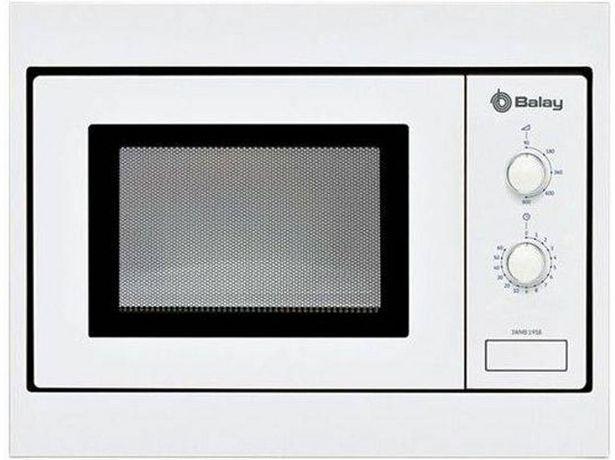 Oferta de Microondas Integrable BALAY 3WMB1958 (Caja Abierta - 17 L - Sin grill - Blanco) por 149,37€