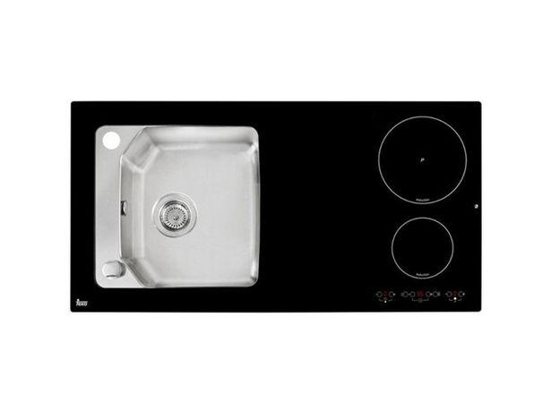 Oferta de Fregadero + Placa TEKA Compact Lux 1000.520 1C 2I Izqda por 639,99€