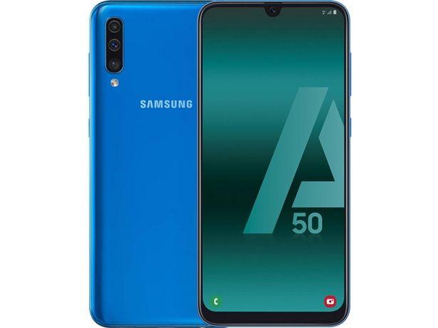 Oferta de Smartphone SAMSUNG Galaxy A50 (6.4'' - 4 GB - 128 GB - Azul) por 259,99€
