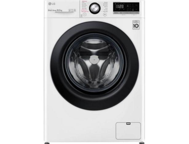 Oferta de Lavadora LG F4WV3010S6W (10.5 kg - 1400 rpm - Blanco) por 499,99€