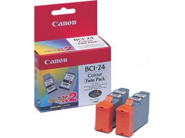 Oferta de Cartuchos de tinta Original CANON Pack 2 unidades  BCI24CTP Amarillo, Magenta, Cián (Caja Abierta) por 28,67€