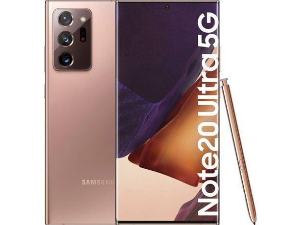 Oferta de Smartphone SAMSUNG Galaxy Note 20 Ultra 5G (6.9'' - 12 GB - 256 GB - Bronce) por 1199€
