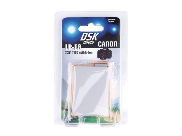 Oferta de Batería Foto DSK CANON LP-E8 1120 mAh por 11,39€