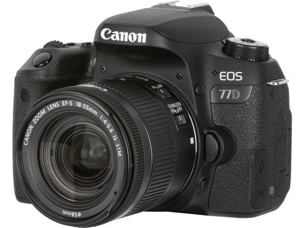 Oferta de Kit Cámara Réflex CANON EOS77D+EF-S18-55 F4-5.6 IS STM (24 MP - ISO: 100 a 25600 - Sensor: APS-C) por 749€
