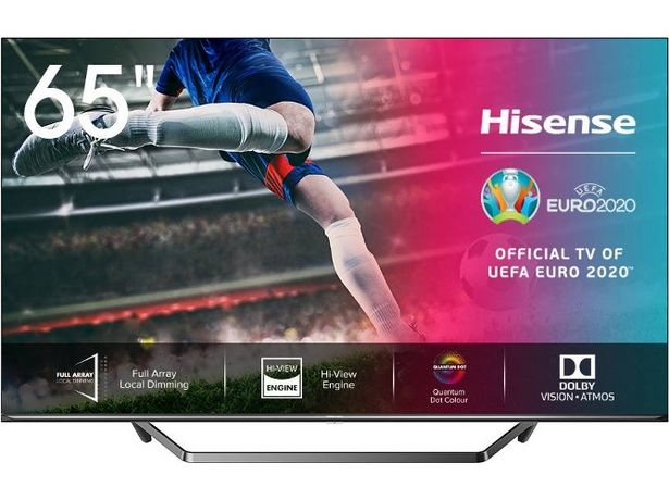 Oferta de TV HISENSE 65U7QF (ULED Quantum Dot - 65'' - 165 cm - 4K Ultra HD - Smart TV) por 849,99€