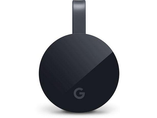 Oferta de Reproductor Multimedia GOOGLE Chromecast Ultra 4K por 59,99€