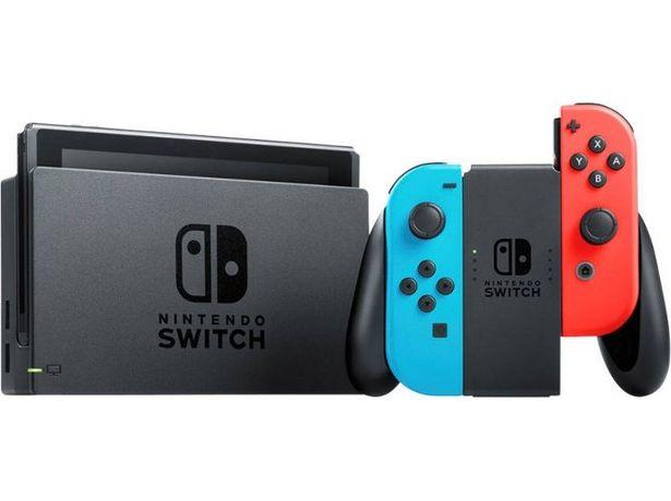 Oferta de Consola Nintendo Switch V2 (32 GB - Azul y Rojo Neón) por 304,99€
