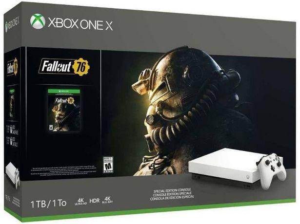 Oferta de Consola Xbox One X blanco + juego Fallout 76 (Caja Abierta) por 399,97€
