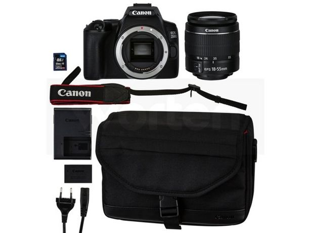 Oferta de Cámara Réflex  CANON EOS 250D + EF-S 18-55 + SB130 (Negro - 24.1 MP - Sensor: APS-C - ISO: 100 a 25600) por 599,99€