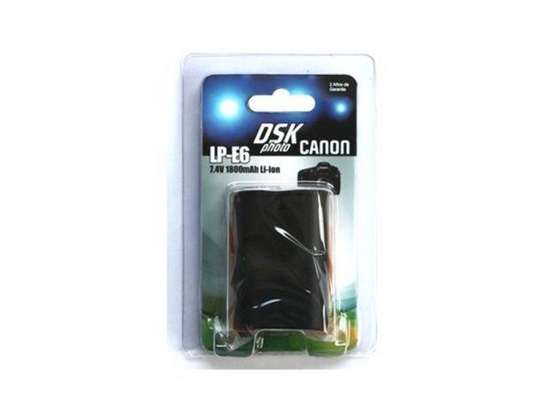 Oferta de Batería Foto DSK CANON LP-E6 1800 mAh por 23,99€