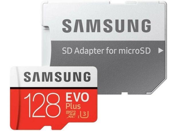 Oferta de Tarjeta de Memória MicroSDXC SAMSUNG Evo Plus (128 GB - 100 MB/s - C10) + Adaptador por 19,99€