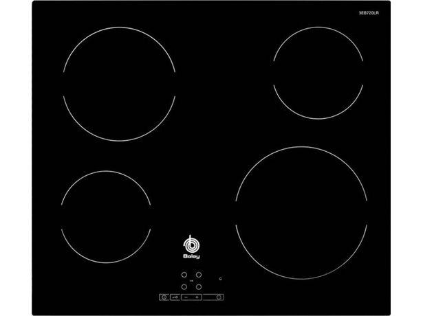 Oferta de Placa de Vitrocerámica BALAY 3EB720LR (Caja Abierta - Eléctrica - 59.2 cm - Negro) por 195,27€