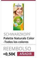 Oferta de Palette Naturals Color Scwarkopf por