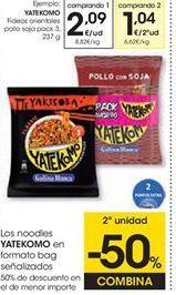 Oferta de Fideos Yatekomo por 2,09€
