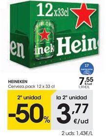 Oferta de Cerveza Heineken por 7,55€