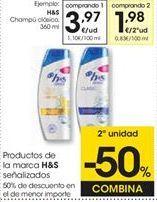Oferta de Champú anticaspa h&s por 3,97€
