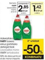 Oferta de Detergente lavavajillas Fairy por 2,85€