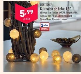 Oferta de Guirnaldas LIGHTZONE por 5,99€