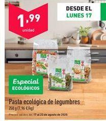 Oferta de Pasta ecológica por 1,99€