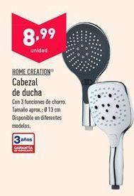 Oferta de Cabezal de ducha HOME CREATION por 8,99€