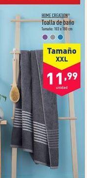 Oferta de Toalla de baño XXL HOME CREATION por 11,99€
