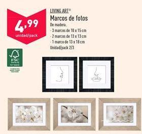 Oferta de Marco de fotos LIVING ART por 4,99€