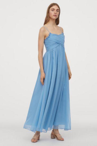 Oferta de Vestido largo drapeado por 21,99€