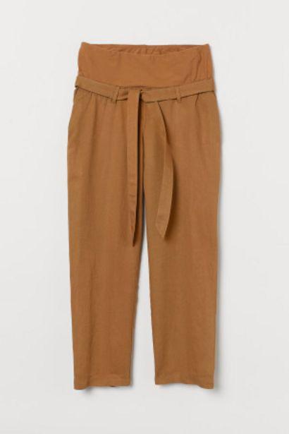 Oferta de MAMA Pantalón mezcla de lino por 12,99€