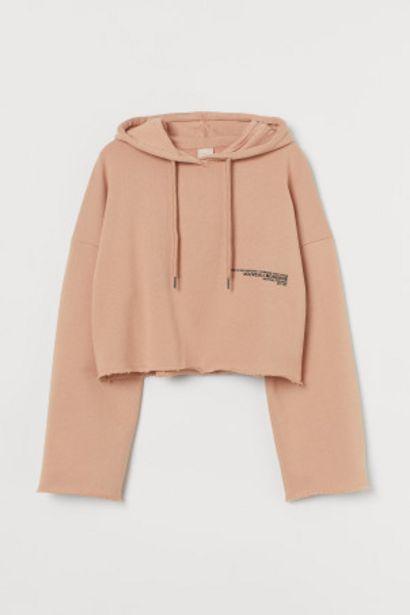 Oferta de Sudadera cropped con capucha por 13,99€